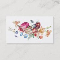 Elegant Vintage Floral Rose Pattern Template Business Card