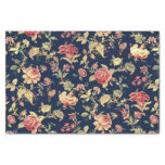 Elegant Vintage Floral Rose Tissue Paper at Zazzle
