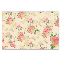 Elegant Vintage Floral Rose Tissue Paper