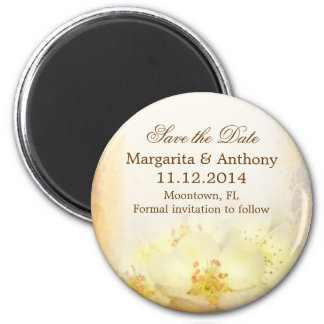 elegant vintage floral save the date magnets