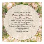 Elegant Vintage Floral Wedding Invitation