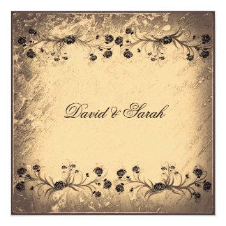 Elegant Vintage  Floral Wedding Save The Date Card