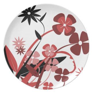 Elegant Vintage flowers and roses plate