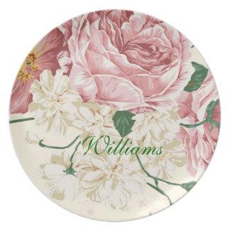 Elegant Vintage Flowers Dinner Plates