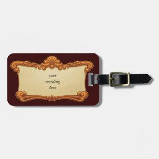 Elegant vintage frame luggage tag
