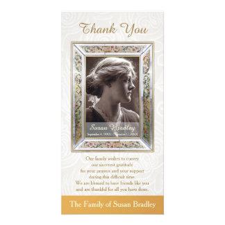 Elegant Vintage Frame Sympathy Thank You Card