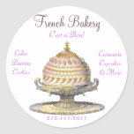 Elegant Vintage French Pastries: Bakery, Cake Shop Stickers