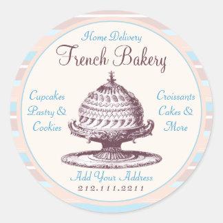 Elegant Vintage French Pastries Victorian Baker Classic Round Sticker