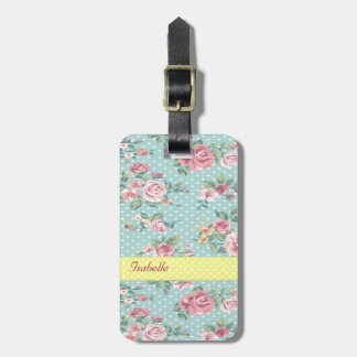 Elegant  vintage gentle floral bag tag