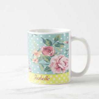 Elegant  vintage gentle floral coffee mug