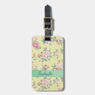 Elegant  vintage gentle floral luggage tag