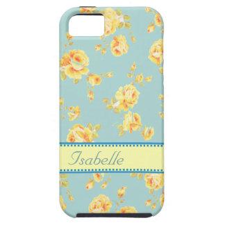 Elegant  vintage gentle floral monogram iPhone 5 covers