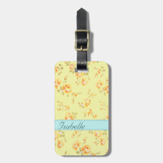Elegant  vintage gentle floral monogram luggage tag