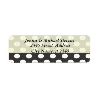Elegant vintage gentle polka dots wedding label