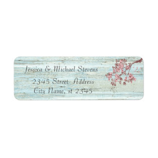 Elegant vintage gentle wedding cherry tree brunch label