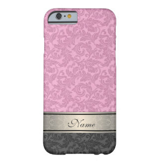 Elegant vintage girly  trendy damask personalized barely there iPhone 6 case
