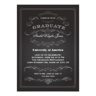 Elegant Vintage Graduation Invitation