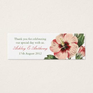 Elegant vintage hibiscus flower floral Favour Tags