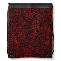 Elegant Vintage Lace Wallpaper Drawstring Bag