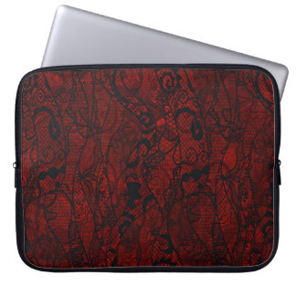 Elegant Vintage Lace Wallpaper Laptop Sleeve