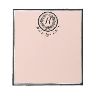 Elegant Vintage Laurel Leaf and Ribbon Bridesmaid Notepad