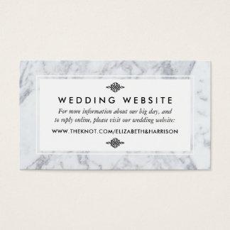 Elegant Vintage Marble Wedding Website Insert