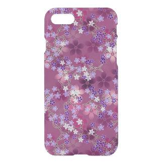 Elegant Vintage Oriental Purple Floral Pattern iPhone 7 Case
