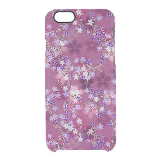 Elegant Vintage Oriental Purple Floral Pattern Uncommon Clearly™ Deflector iPhone 6 Case