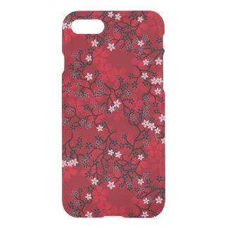 Elegant Vintage Oriental Red Floral Pattern iPhone 7 Case