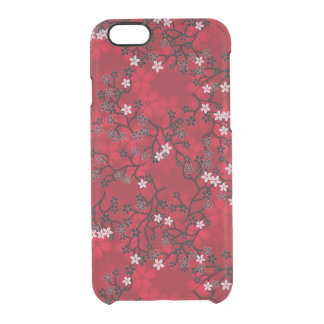 Elegant Vintage Oriental Red Floral Pattern Uncommon Clearly™ Deflector iPhone 6 Case