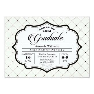 Elegant Vintage Ornate Graduation Invitation