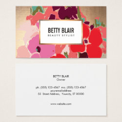 Elegant Vintage Painted Floral Art Designer Business Card