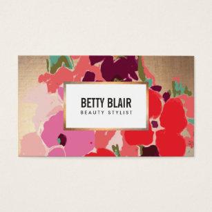 Art business cards 56300 art business card templates elegant vintage painted floral art designer business card cheaphphosting Gallery