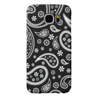 Elegant Vintage Paisley Black and White Pattern Samsung Galaxy S6 Case