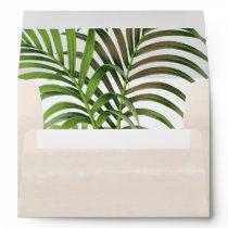 Elegant Vintage Palm Leaves   Wedding Envelope