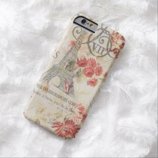 Elegant vintage paris eiffel tower floral barely there iPhone 6 case