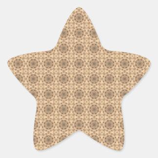 Elegant Vintage Pattern Star Sticker