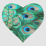 Elegant Vintage Peacock Invitation for Wedding Stickers