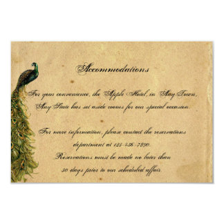 Elegant Vintage Peacock Posh Wedding Insert Card