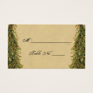 Elegant Vintage Peacock Posh Wedding Place Cards