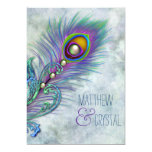Elegant Vintage Peacock Wedding Card