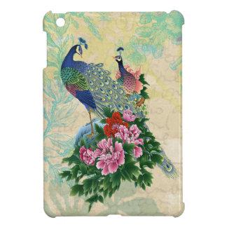 Elegant Vintage Peacocks Collage iPad Mini Cover