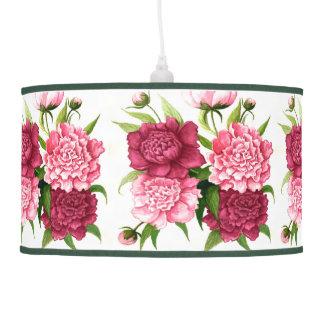 Elegant Vintage Peonies Hanging Lamp