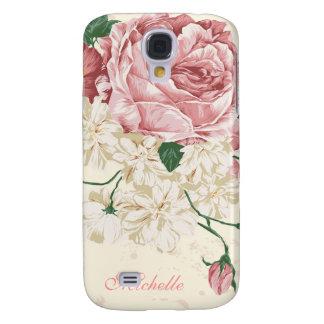 Elegant Vintage Pink Floral Pattern Galaxy S4 Case