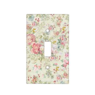 Elegant vintage pink pastel floral pattern light switch cover