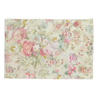 elegant vintage pink pastel floral pattern pillow case