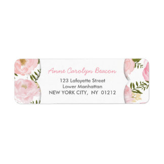 Elegant Vintage Pink Roses Label