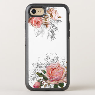 Elegant Vintage Pink Roses OtterBox Symmetry iPhone 7 Case