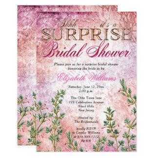 Elegant Vintage Pink Surprise Bridal Shower Card