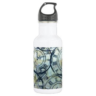 Elegant Vintage Pocket Watches Pattern Stainless Steel Water Bottle